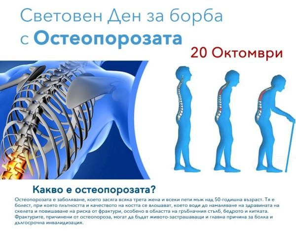 Проверка на риска от остеопороза на 2 места в Бургас