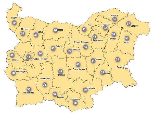 COVID заболеваемост: Цялата страна вече е в жълтата зона