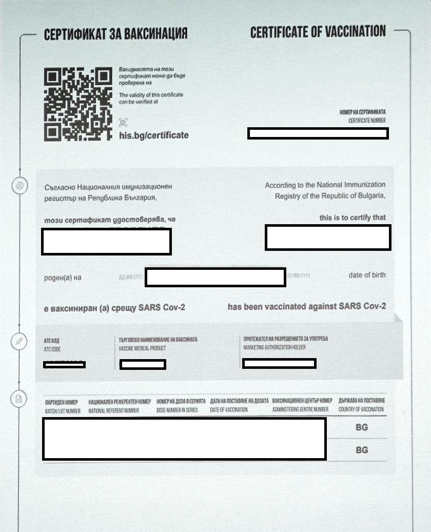 ИО: Над 1 млн. са изтеглените европейски зелени сертификати
