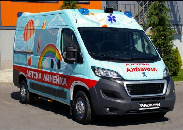 """Първата специализирана детска линейка стана притежание на """"Пирогов"""""""