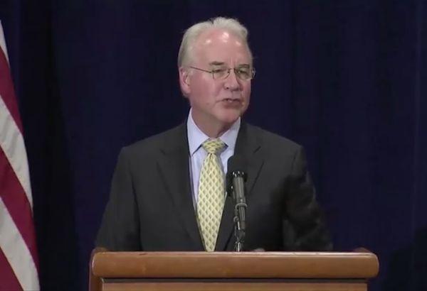 Американският здравен министър Том Прайс подаде оставка