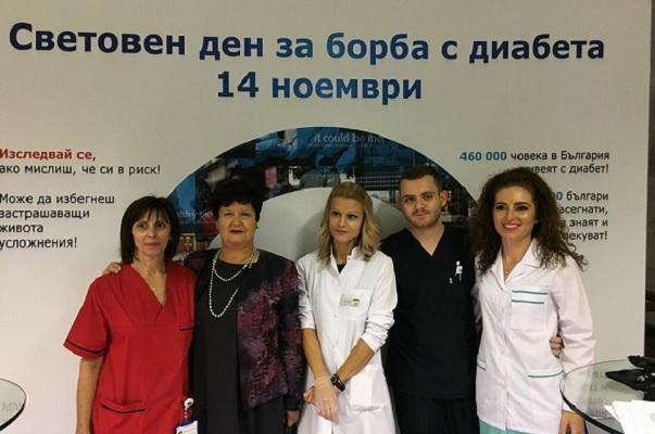 500 души се изследваха безплатно за диабет във ВМА