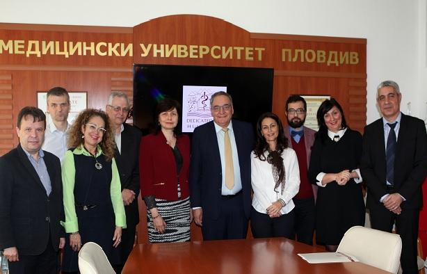 МУ- Пловдив обсъди бъдещи проекти с университет и болница в Йерусалим