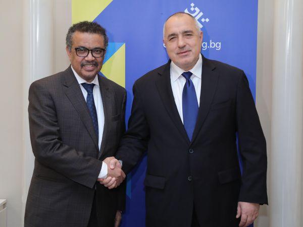 Премиерът и д-р Гебрейесус обсъдиха сътрудничеството между България и СЗО