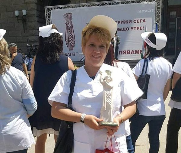"""Сестра от """"Пирогов"""" с награда от БАПЗГ"""