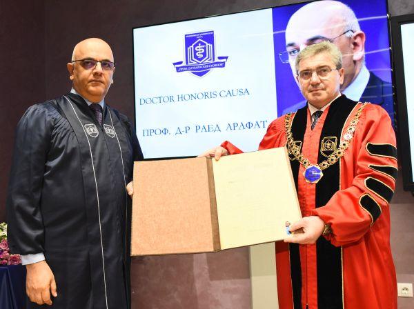 """МУ-Варна удостои проф. Раед Арафат с почетното звание """"Доктор хонорис кауза"""""""
