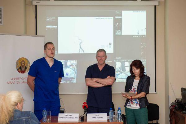 """С успех е приключила интервенцията на първата гигантска мозъчна аневризма в УМБАЛ """"Св. Иван Рилски"""""""
