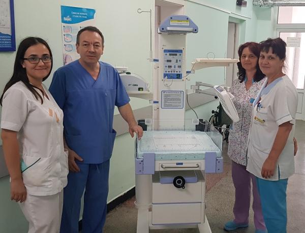 МБАЛ Поморие - с животоспасяваща реанимационна маса за новородени
