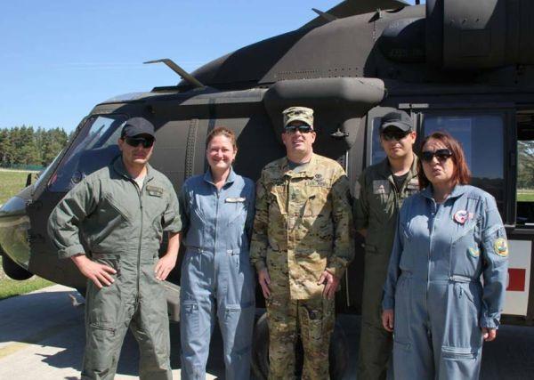 Екипи на ВМА участваха в международно учение по авиомедицинска евакуация в Германия