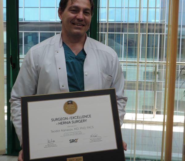 """Водещ лекар от """"Софиямед"""" със световно признание за постижения в областта на хирургията"""
