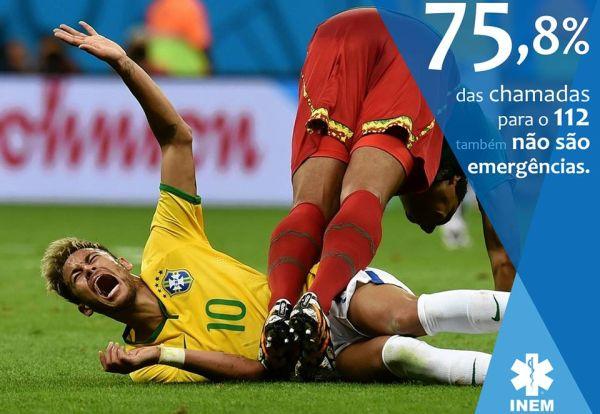 Бразилската Спешна помощ илюстрира своя кампания с Неймар