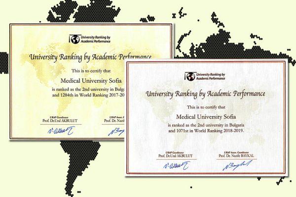 МУ-София се изкачи с 213 места в класацията на университетите в света