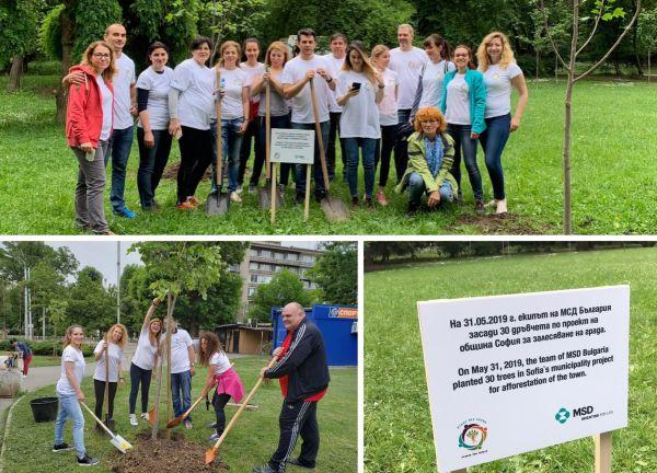 Екипът на MSD България засади 40 дръвчета